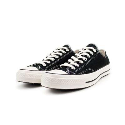 男女款低筒帆布鞋-162058C-黑-CTAS 70