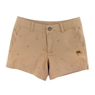品牌小熊夏日海洋滿版休閒短褲(女)