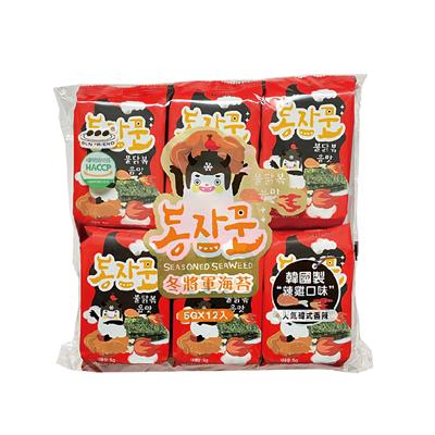 韓國海苔辣雞口味(12入) 買1送1-060057