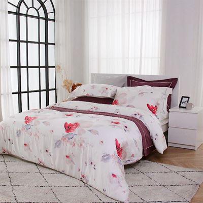 長纖天絲四件式雙人床包組 贈雙人冬被+護頸枕1對