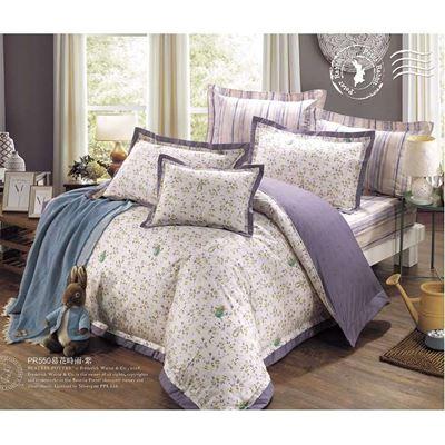精梳棉七件式兩用被床包組-慕花時雨 贈批毯
