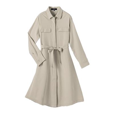 風衣造型綁帶洋裝