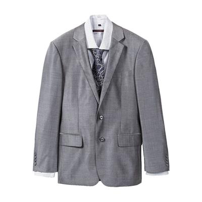 灰羊毛蠶絲成套西服(西裝+西褲)
