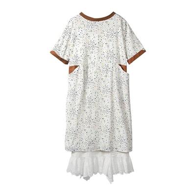 棉質蕾絲襯裙