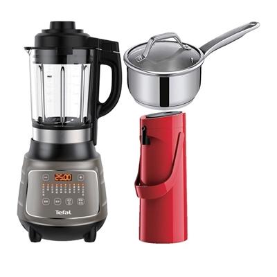 高速動能營養調理機+ 摩埃壺(紅)+HERO單柄湯鍋16cm