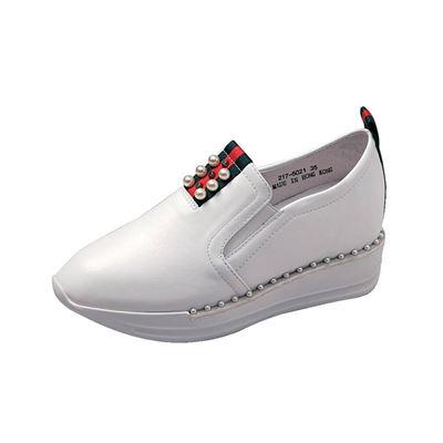 厚底休閒鞋(黑/白)