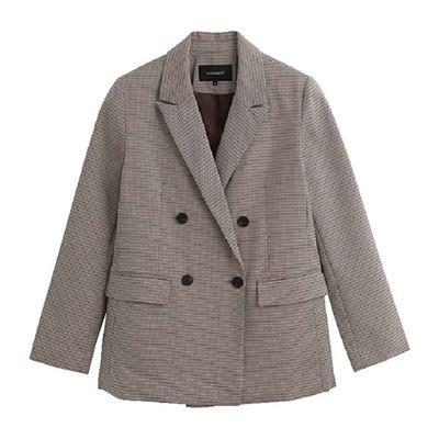格紋西裝外套