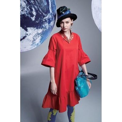 典雅造型袖洋裝