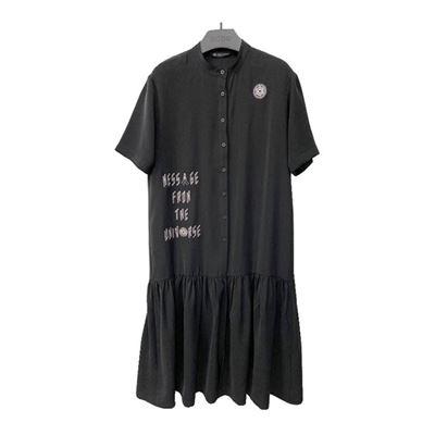 字母襯衫洋裝