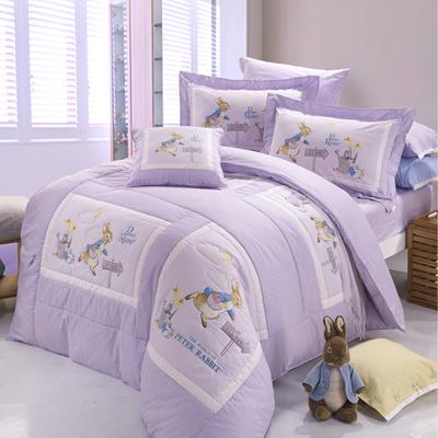 比得兔七件式兩用被雙人床包組-快樂農場