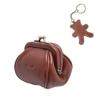 口金零錢包+小熊鑰匙圈
