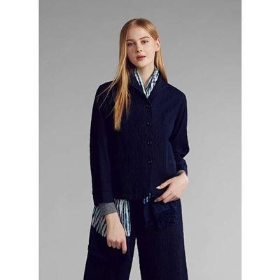 INDIGO棉混紡羊毛短版外套
