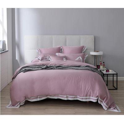 天絲4件式雙人床包組-粉堇 贈雙人毛毯