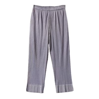 經典褶袖褲子