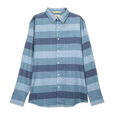 藍格紋襯衫