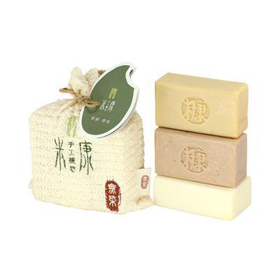 手工糠皂-皂袋3入組