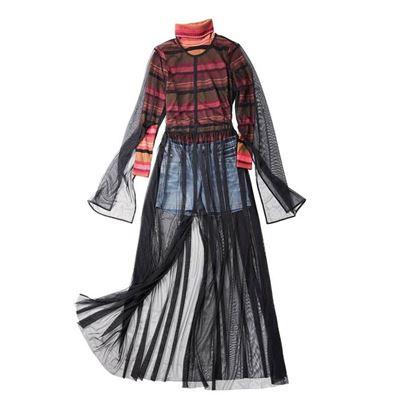 設計網紗罩衫