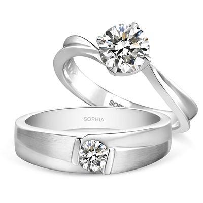 四爪30分鑽石戒指+20分男戒
