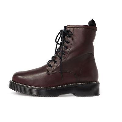 漆皮亮面綁帶靴