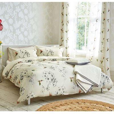 100%長纖埃及棉4件式雙人床包組-豔蜂鳥+雙人水洗被