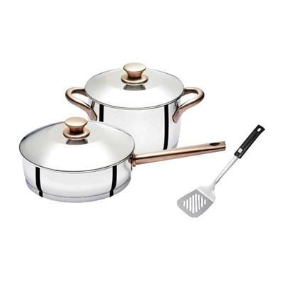 金圓滿平鍋24 cm +湯鍋20 cm +平鍋鏟