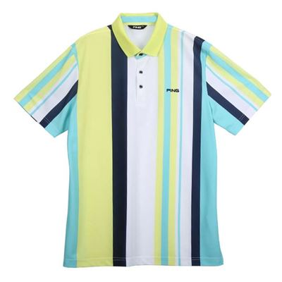 男款條紋POLO短袖吸濕排汗衫
