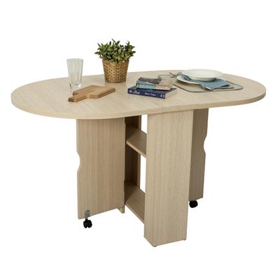 摺疊餐桌白橡色(CT-0860Z-A)