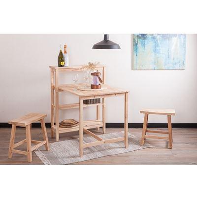 自然簡約生活餐桌層架椅凳組