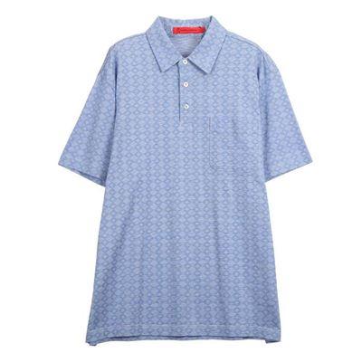 男款菱格紋短袖POLO衫