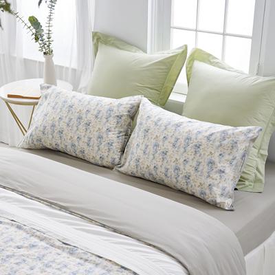 長纖細棉印花4件式雙人床包組-幸福詩篇 贈洗衣袋