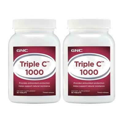 三效維生素C1000食品錠 (90錠/瓶)*2瓶