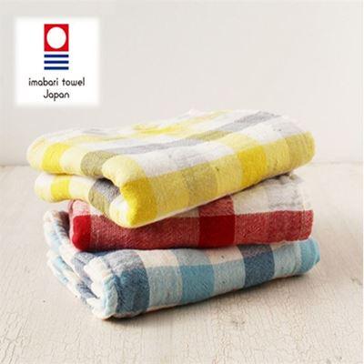 今治有機灰格浴毛方巾(浴巾+毛巾)