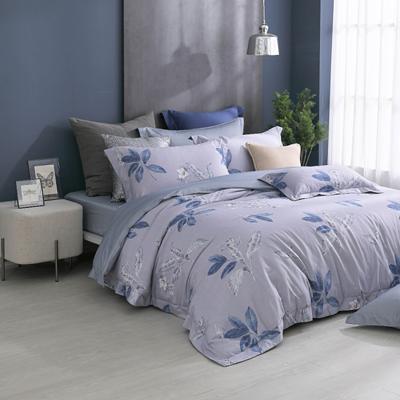 300織紗長絨細棉7件式雙人床罩組