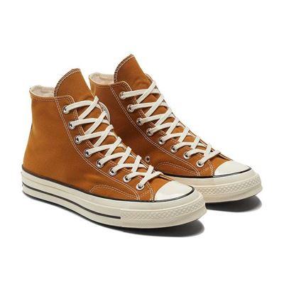 男女款高筒CHUCK taylor休閒鞋-棕色