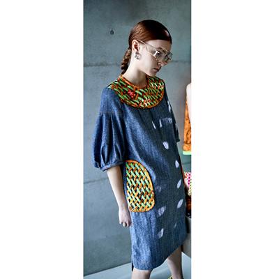 單寧編織洋裝