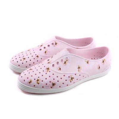 女款JERICHO PRINT 洞洞鞋-粉紅色