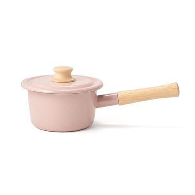 Cotton系列-14cm單柄附蓋琺瑯調理鍋1.6L